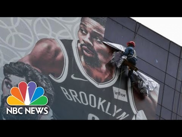 Banners Removed, Media Event Canceled Amid NBA's Rift With China | NBC News