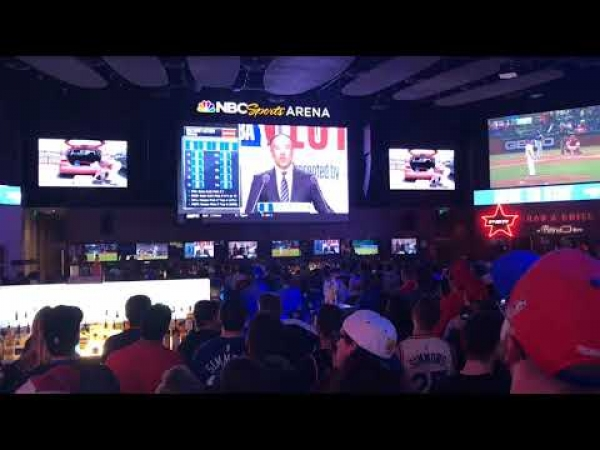 Sixers fans react to NBA Draft Lottery at Rights to Ricky Sanchez party