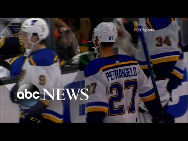 St. Louis Blues hockey player collapses during game