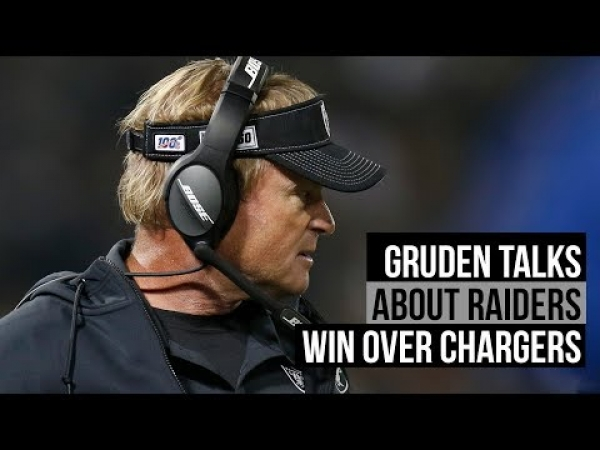 Gruden on Raiders 26-24 win over Chargers